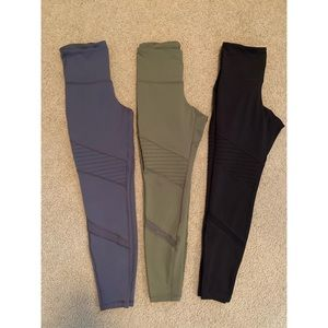 Women's High Rise Athletic Leggings (Set)